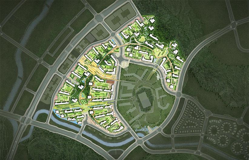 주변현황을 고려한 친환경 단지 계획